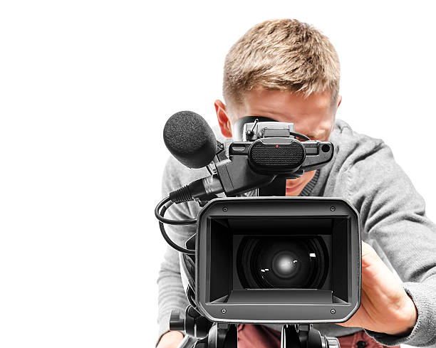 video camera operator - kamerabedienung stock-fotos und bilder