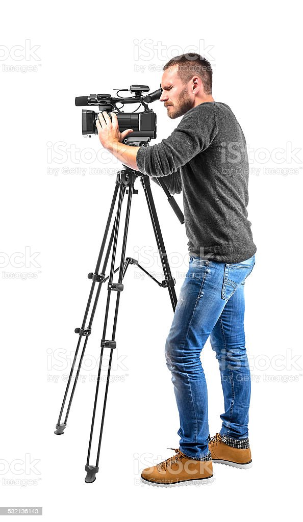 Video camera operator royalty-free stock photo
