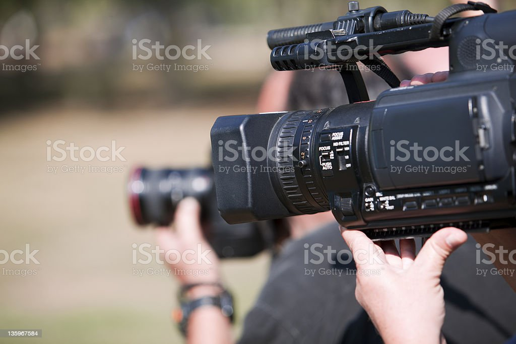 Camcorder - Lizenzfrei Arbeiten Stock-Foto