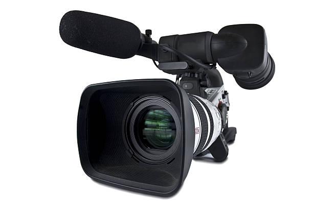 Video Camera (Clipping path) stock photo
