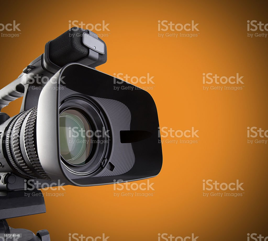 video camera Change background color by changing hue. Brightly Lit Stock Photo