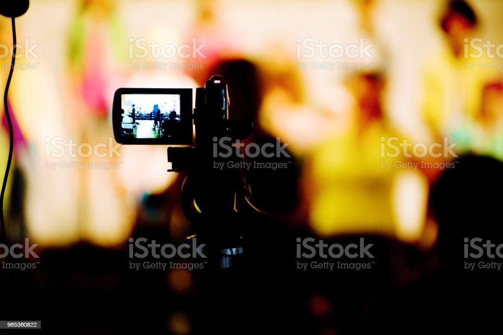 視頻攝像機 - 免版稅三腳架圖庫照片