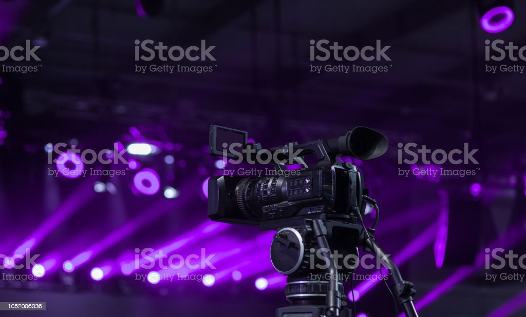 Video camera recording stock photo