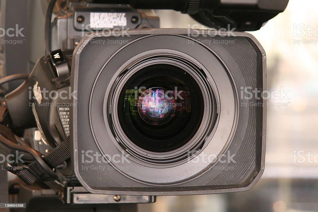 Video Camera Up Close royalty-free stock photo