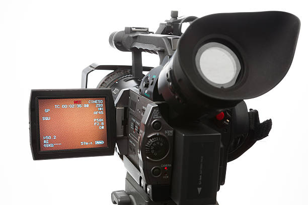 video camera with screen stock photo