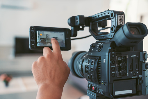 Video Camera with touchscreen