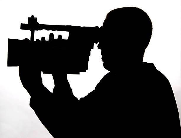 Video cameraman stock photo