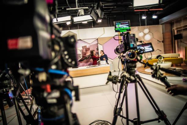 Videokameras auf einem Fernseher – Foto