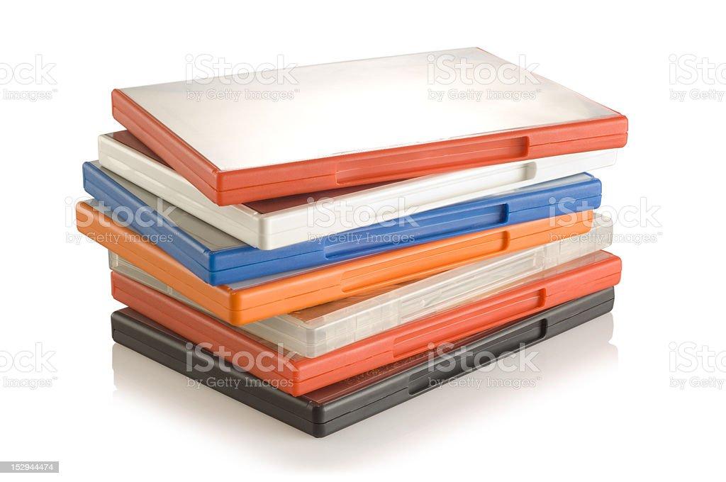 DVD video cases stock photo