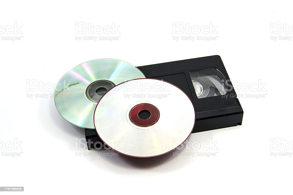 Video cassette and disc CD royalty-free stock photo