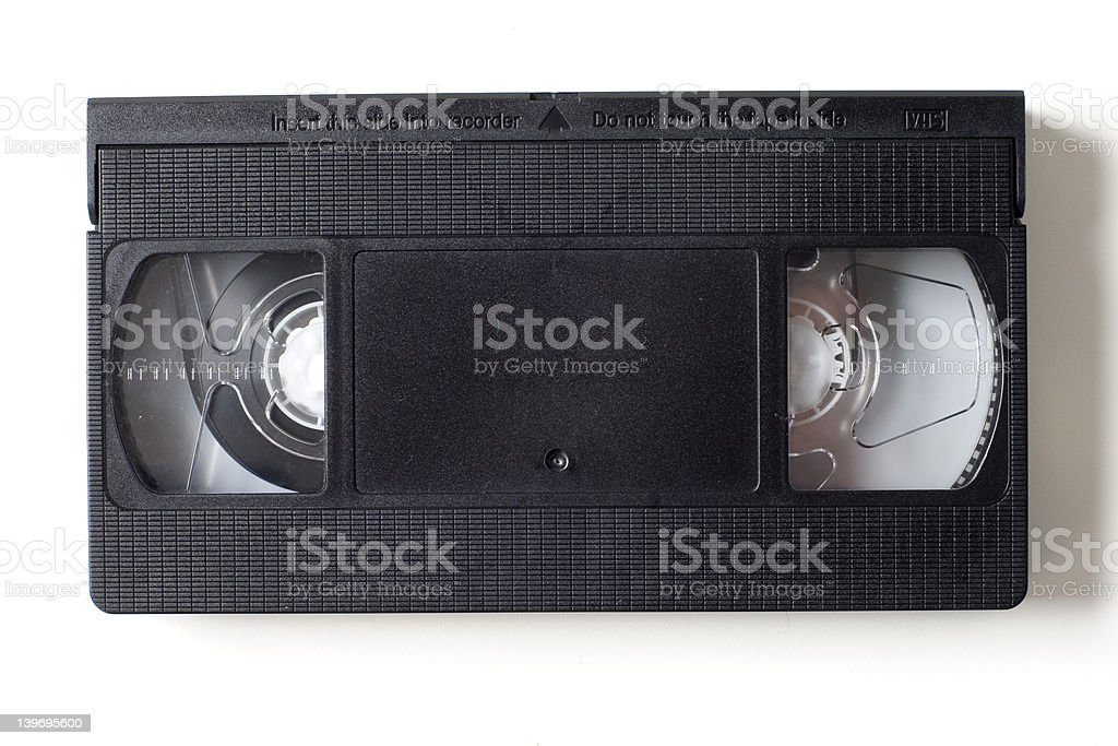VHS Video Cassette royalty-free stock photo