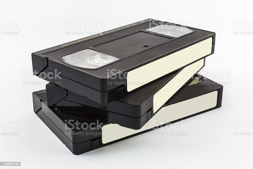 VHS video cassette. stock photo