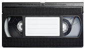 istock Video cassette tape isolated on white. 115768659