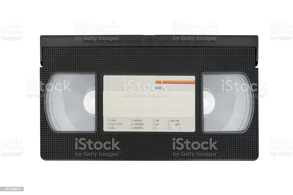 Video Cassette Tape (Clipping Path Included) stock photo