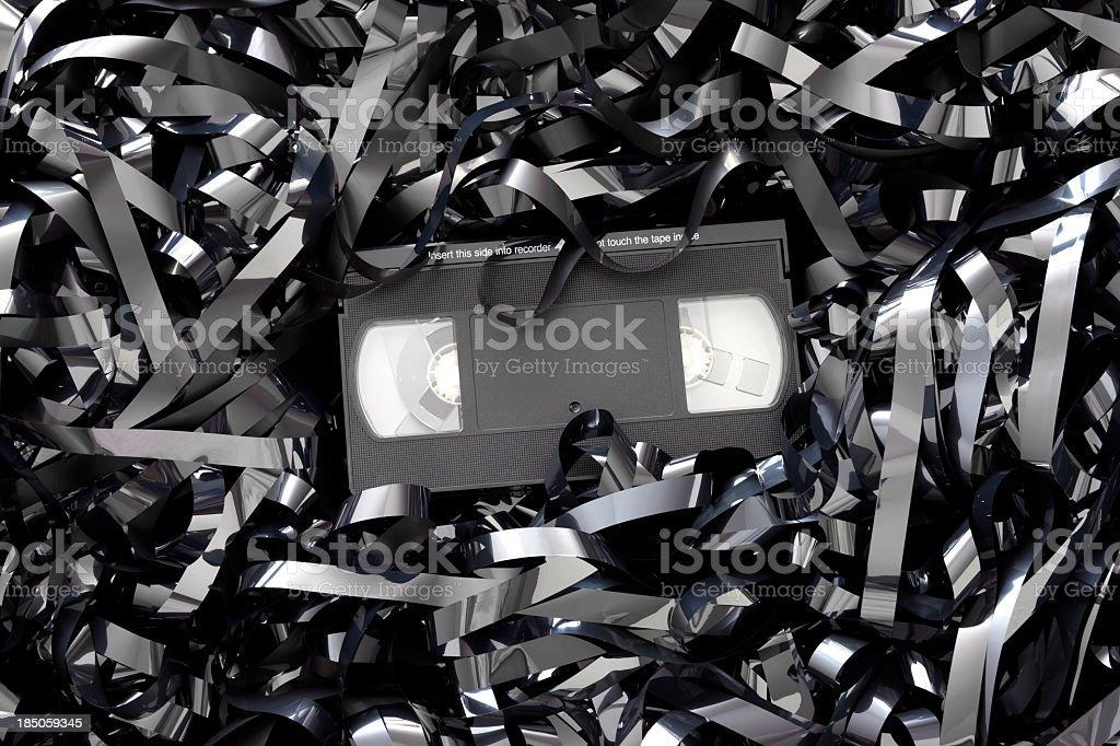 Video cassette tape stock photo