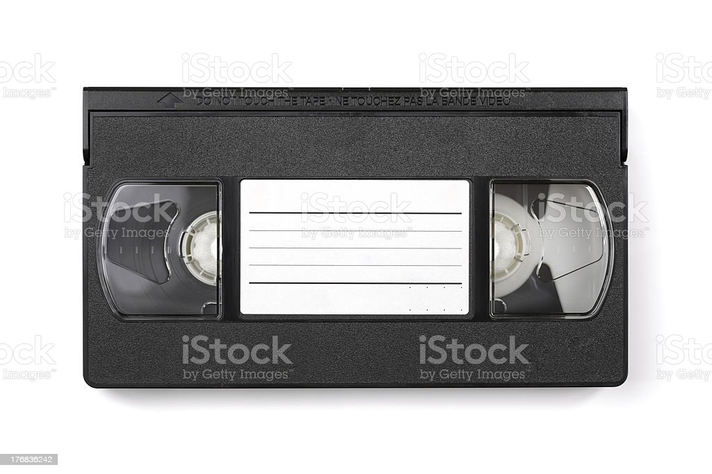 Video cassette tape with copyspace stock photo