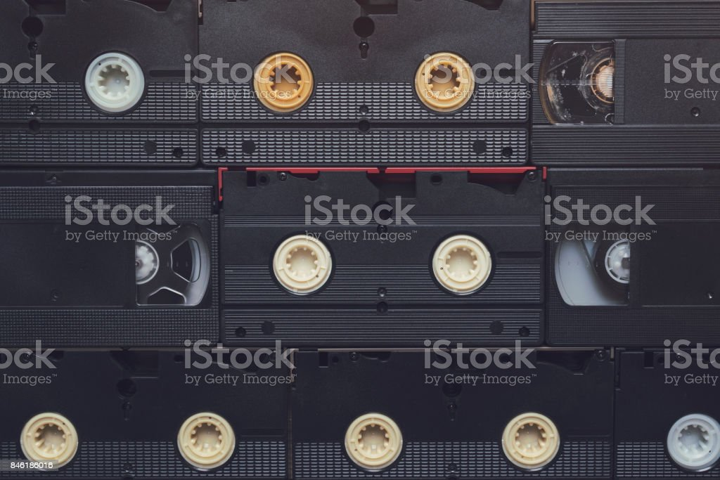 VHS Video Cassette Tapes stock photo