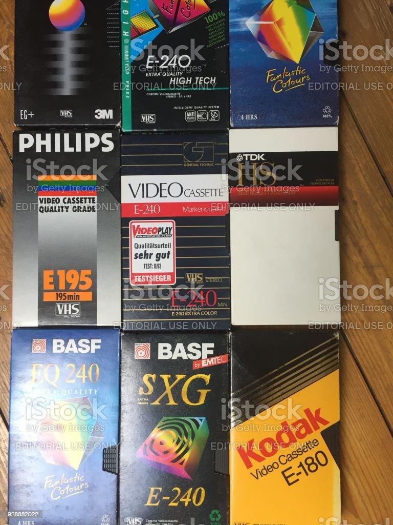 99892f294 Cintas De Video Vhs Muchas Marcas Son Reconocibles Foto de stock y ...