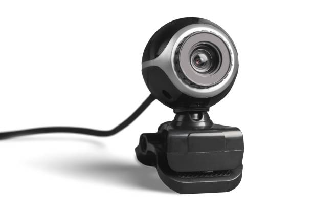 video conference camera. - webcam stock photos and pictures