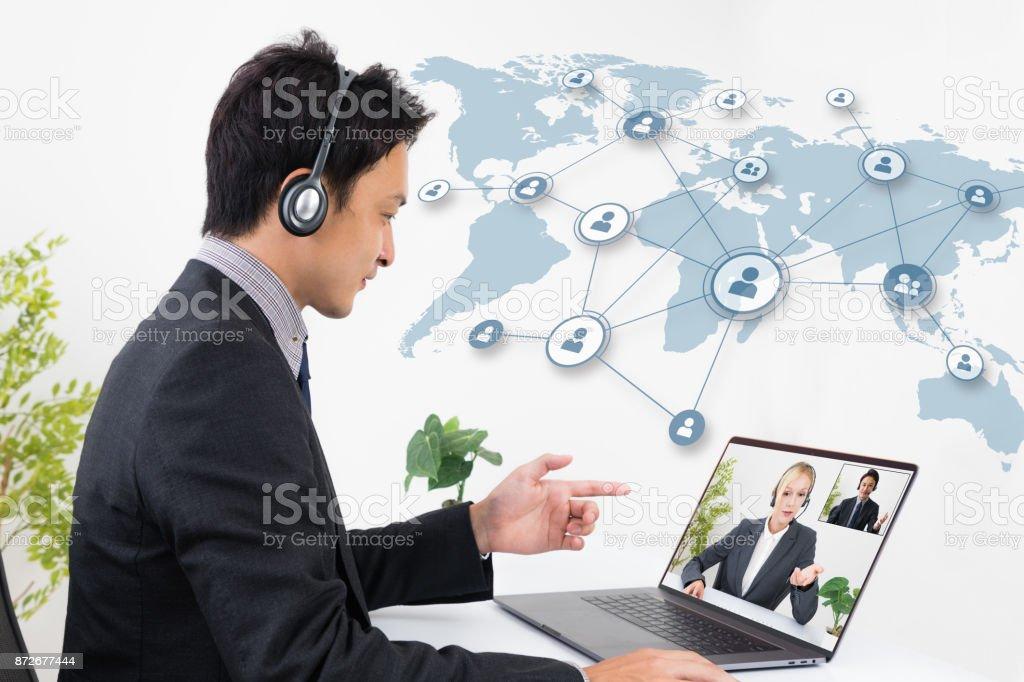 ビデオ会議のコンセプトです。 ストックフォト