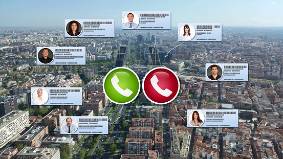Video Conference In Madrid Stock Photo - Download Image Now