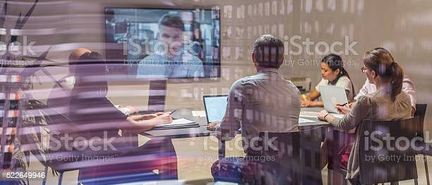 Video Conference Meeting Stock Photo - Download Image Now