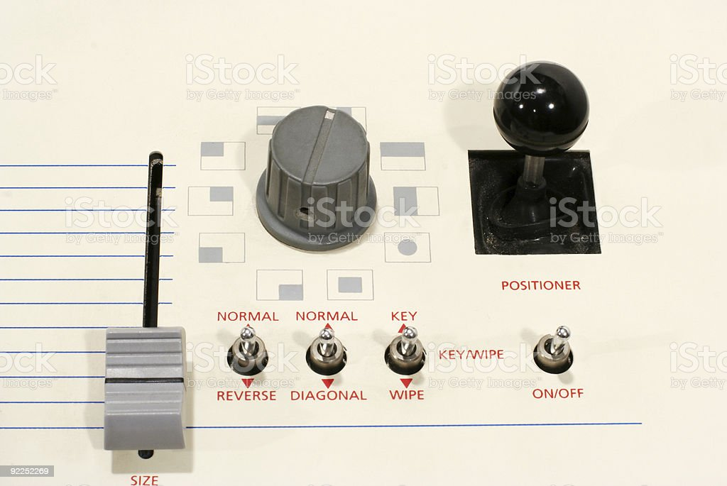 Video Control Panel royalty-free stock photo