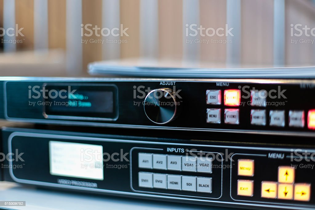 HD Video controller unit stock photo