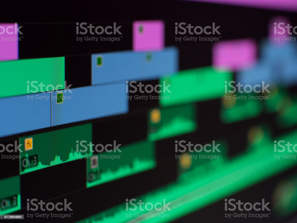 Video Editing Software Close Up Stock Photo - Download Image