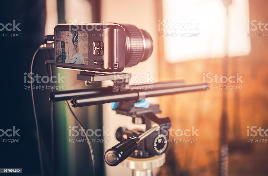 Video Equipment in Action stock photo