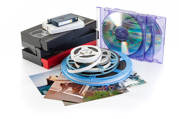 Video, Film, Photo - DVD Transfer stock photo