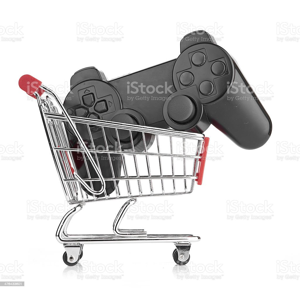 video game controller in trolley royalty-free stock photo