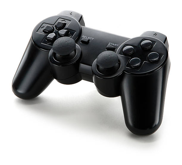 A video game controller standing on a white background video game controller isolated on a white background joystick stock pictures, royalty-free photos & images