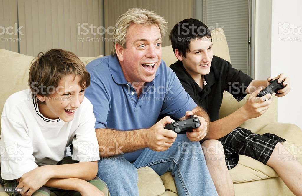 Video Game Excitement stock photo