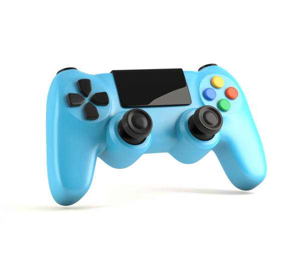 Video Game Gamepad 3d illustration gamepad stock pictures, royalty-free photos & images