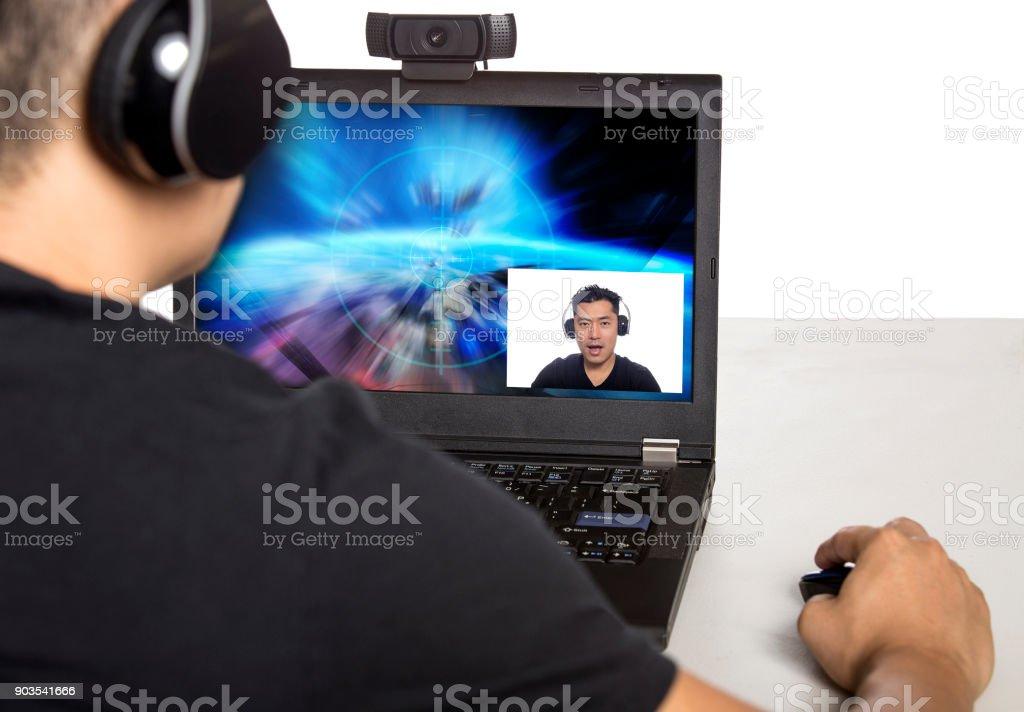 Video Game or E-Sports Live Streamer stock photo