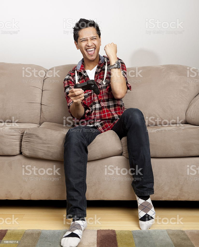 video game player winning royalty-free stock photo