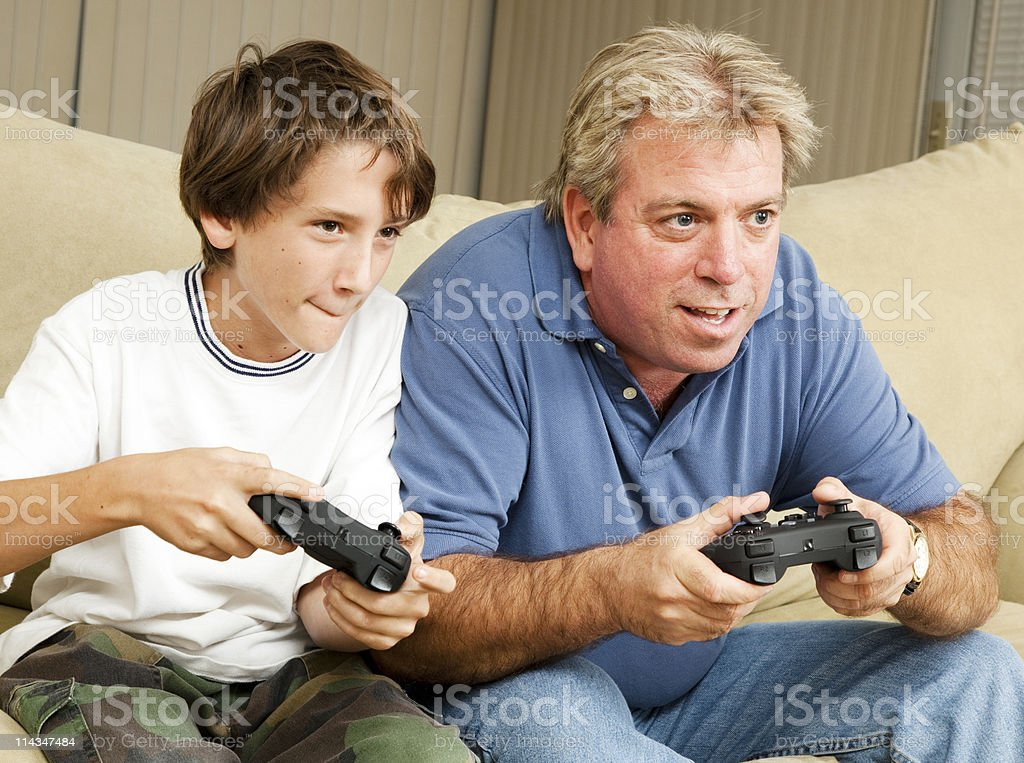 Video Gamers royalty-free stock photo