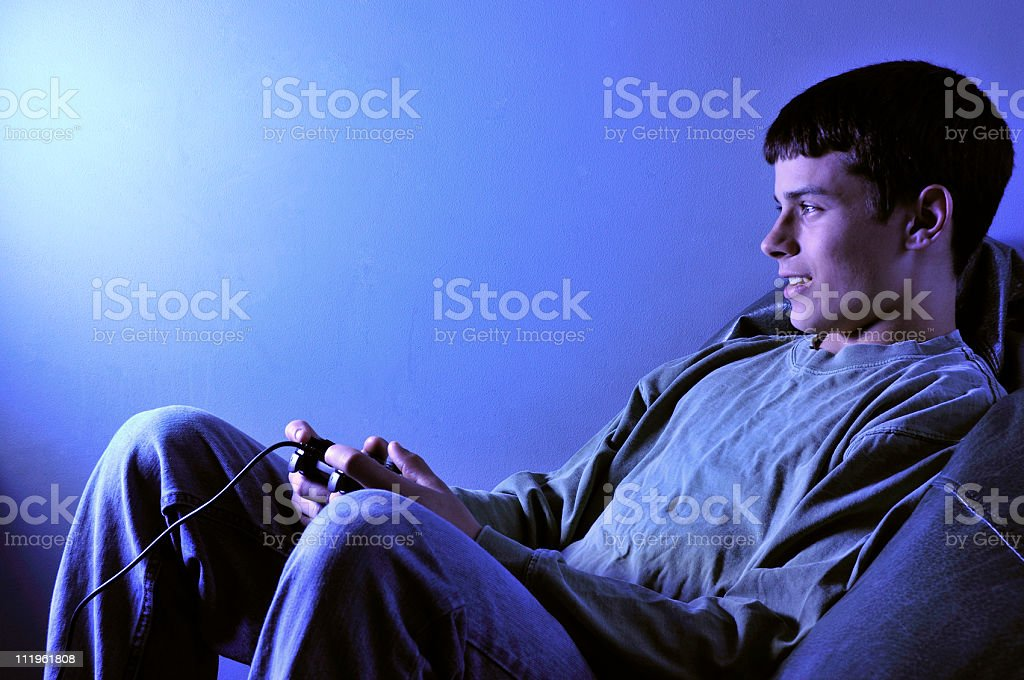 Video Gaming Teen royalty-free stock photo