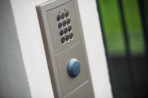 Video intercom in the entry of a house stock photo