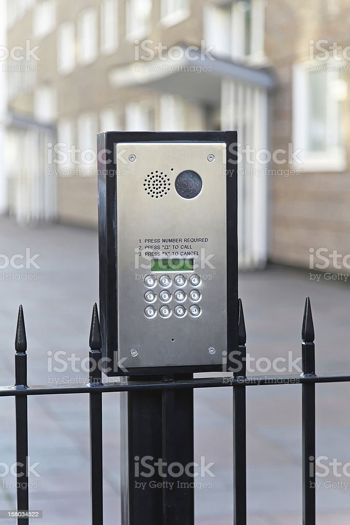Video intercom stock photo