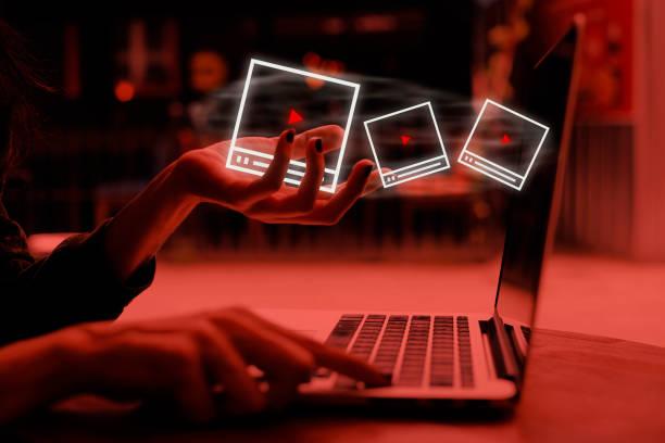 Video Marketing Concept stock photo