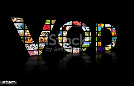 istock Video on demand abstract text, tv concept. 478390574