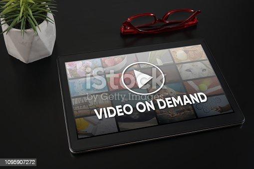Video On Demand television internet stream multimedia concept
