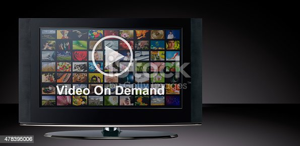 istock Video on demand VOD service on TV. 478395006