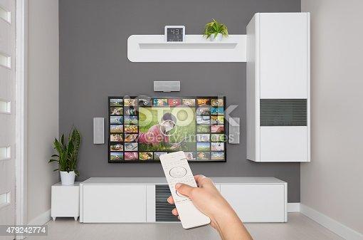 istock Video on demand VOD service on TV. 479242774