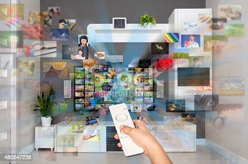 istock Video on demand VOD service on TV. 480547238