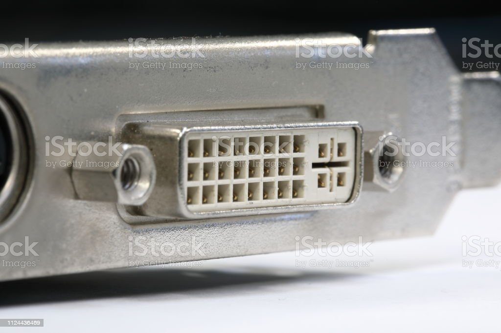 video port for computers - foto stock