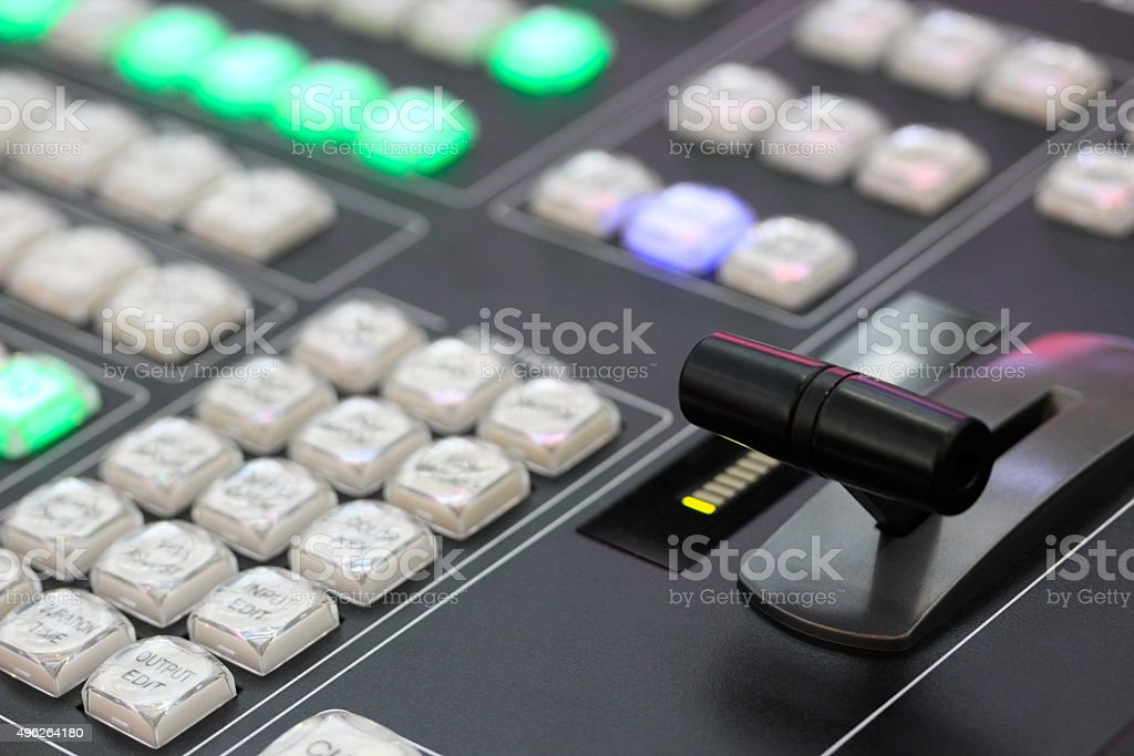 video processing console stock photo