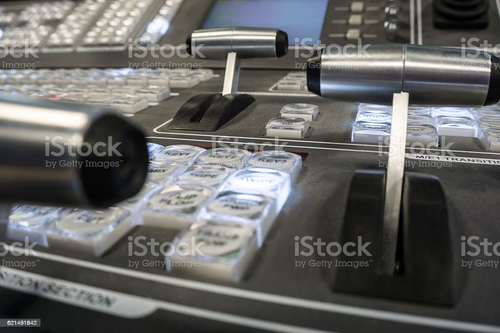 Video Production Switcher of Television Broadcast foto stock royalty-free